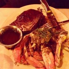 Steak and crab at Bobo's. 'Nuff said.