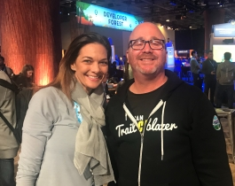 Becka Miller and her Trailhead competitor